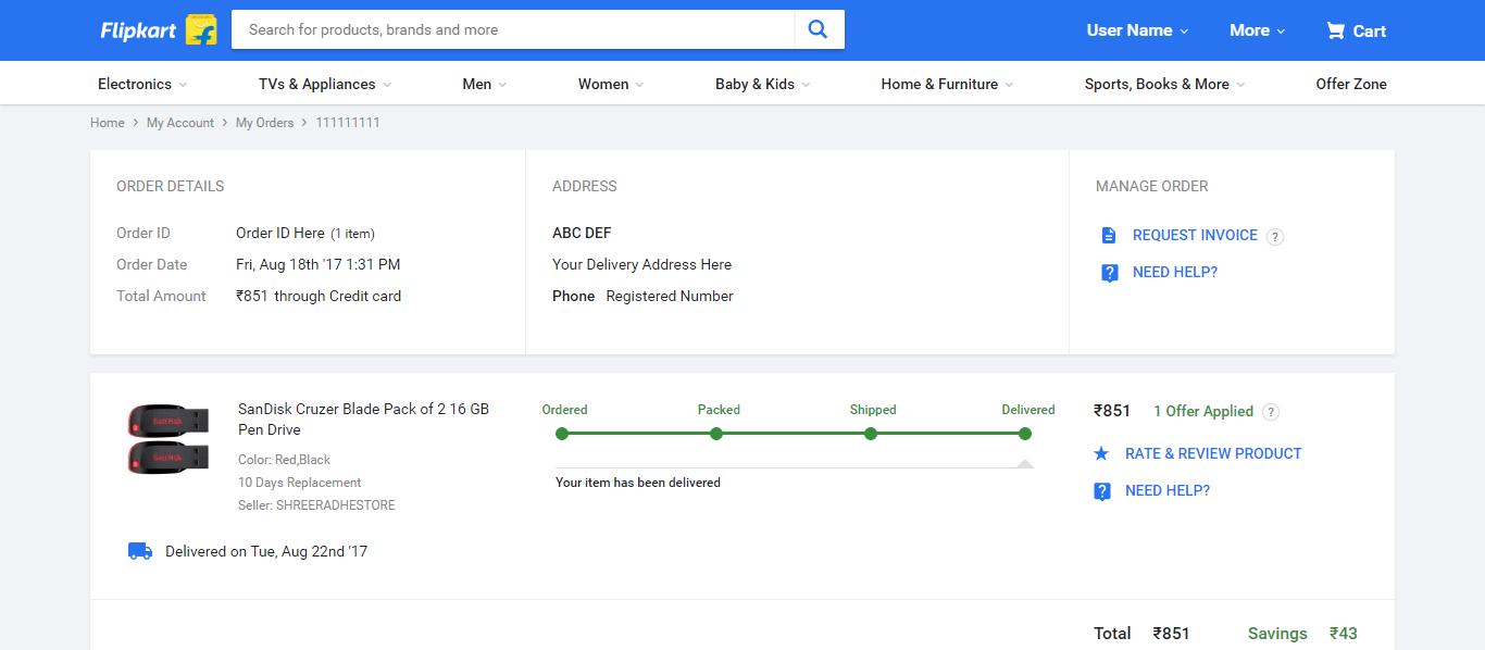 Flipkart Delivery